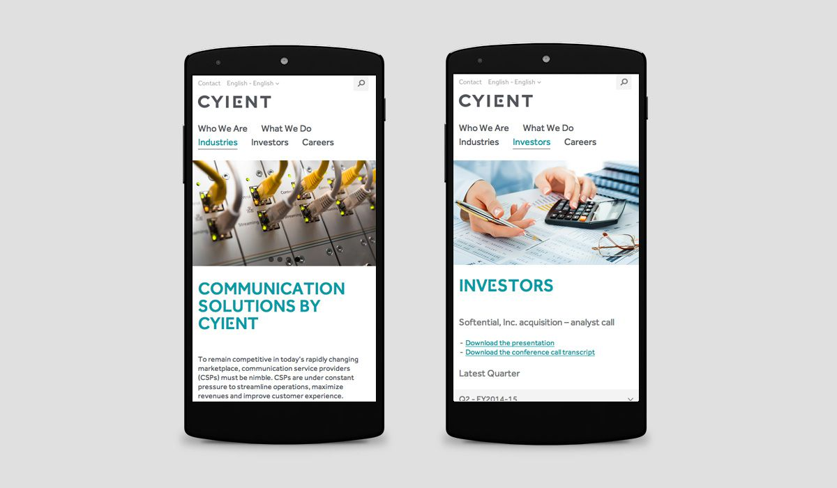 Relaunch Cyient - Smartphone