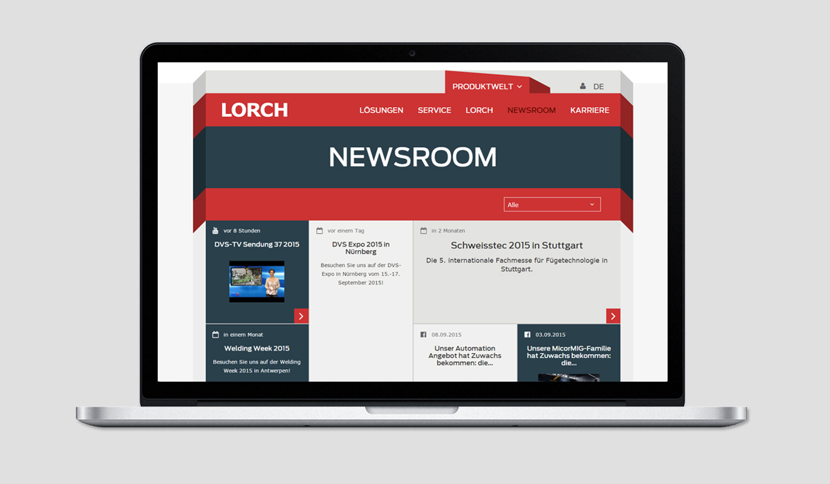 Relaunch Lorch Schweißtechnik - Newsroom