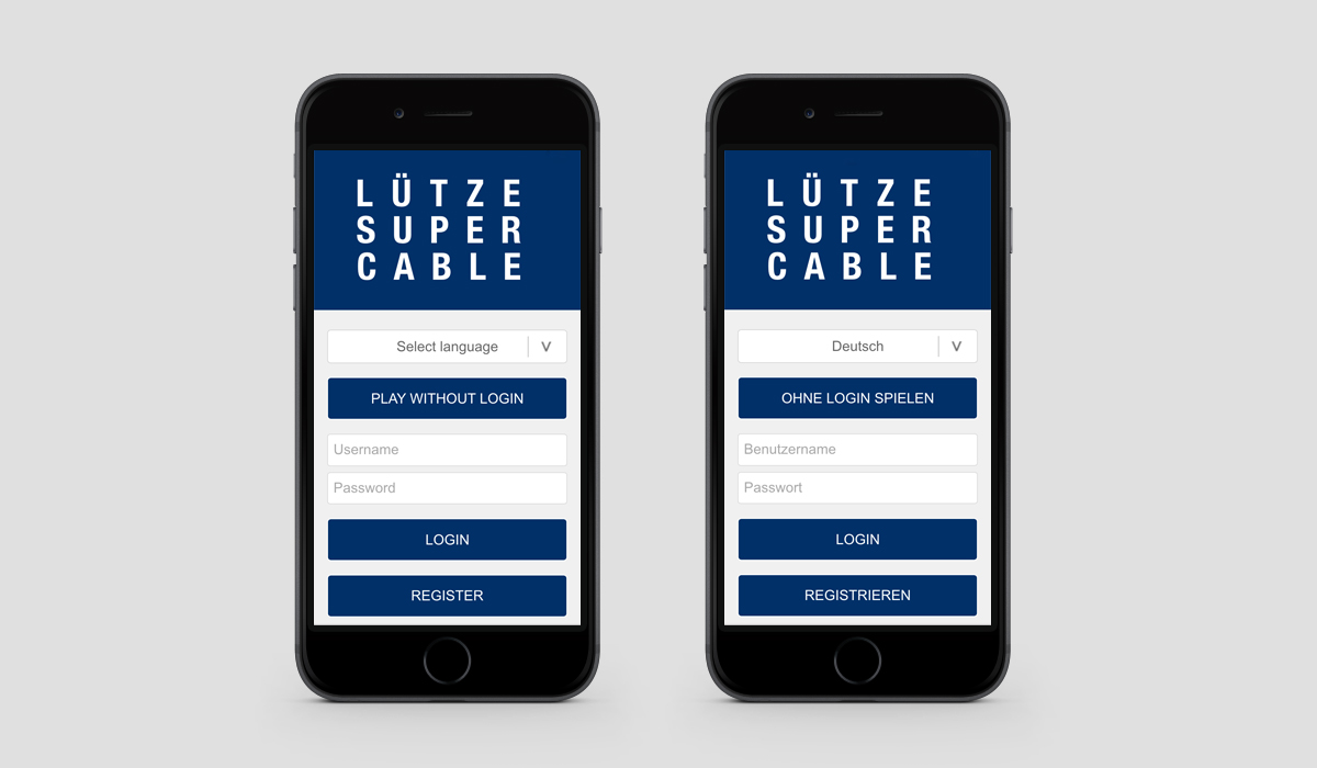 Lütze Super Cable Quartett - Login